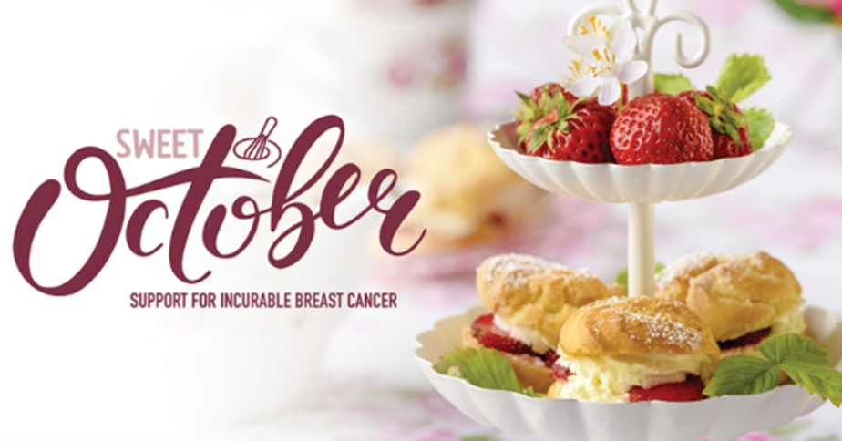 Sweet October support for incurable breast cancer